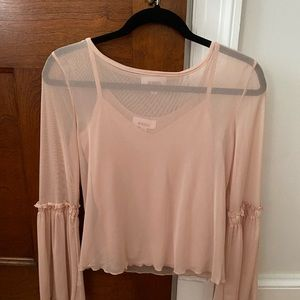 Gorgeous sheer blouse with matching camisole